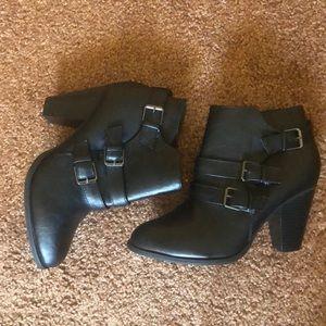 Black Buckle Booties size 9